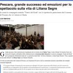 Pescara, grande successo ed emozioni per lo spettacolo sulla vita di Liliana Segre
